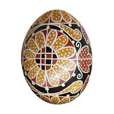 írott húsvéti tojás