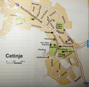 Cetinje térkép