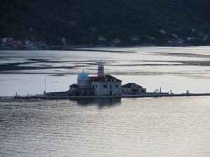 Kotori Öböl Perast Szirti Madonna sziget