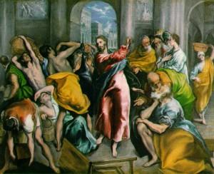 el greco a kufárok kiűzése a templomból