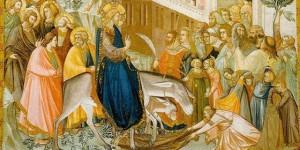jézus bevonulása Jeruzsálembe